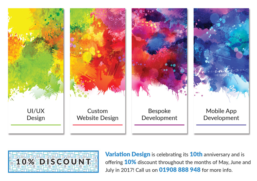 Variation Design Anniversary Leaflet